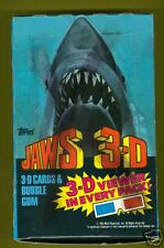 1983 Jaws 3D Unopened Box w/glasses 36 Mint Packs
