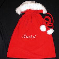 CHRISTMAS PERSONALIZED RACHEL LARGE SANTA SACK GIFT BAG FLEECE POTTERY BARN KIDS