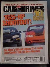 Car & Driver Magazine 1625 HP Shootout Camaro ZL-1 Boss Mustang Jan 2000 VV ZZ