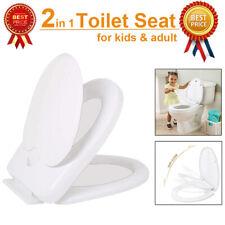 Familie WC Sitz Deckel Toilettensitz Klodeckel Klobrille Weiß Soft Closing 2020