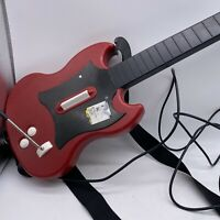 Two PS2 Playstation Guitar Hero Gibson Red Octane Wired Controller PSLGH Tested