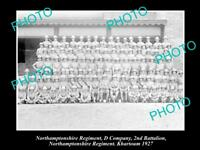 OLD HISTORIC MILITARY PHOTO OF NORTHAMPTONSHIRE REGIMENT 2nd BATTALION 1927