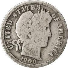 [#26770] UNITED STATES, Barber Dime, Dime, 1900, U.S. Mint, KM #113, VG(8-10)