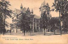 MI - 1908 Central High School in Detroit, Michigan - ROTOGRAPH Postcard