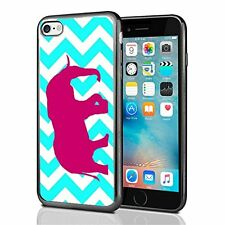 Elephant Sihlouette Turqouise Chevron For Iphone 7 & Iphone 8 Case Cover