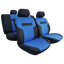 11pcs New Blue Black Polyester Car Seat Covers Racing Design For Corolla C-HR