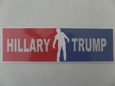 HILLARY/TRUMP, PRESIDENTIAL, RED & WHITE & BLUE, ZOMBIE  BUMPER STICKER 2016