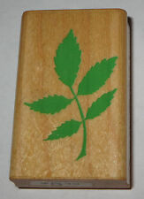 Rose LEAVES Rubber Stamp Leaf 1993 Retired Comotion Wood Mounted Flowers