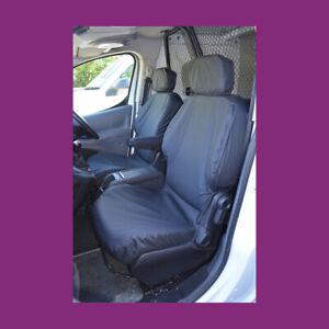 Peugeot Partner 2008-2018 Tailored Waterproof Front Pair Black Seat Covers
