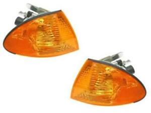 BMW e46 (99-01 4dr) Turn Signal Lights Front L+R (x2) Yellow lens Brand NEW