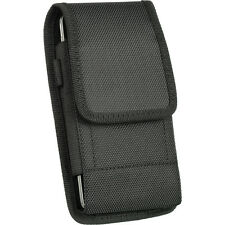 "VERTICAL NYLON HOLSTER BELT CLIP POUCH IPHONE 6 PLUS 5.5"" EXTENDED BATTERY CASE"