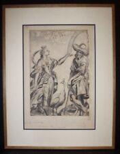 """circa 1810 OLD MASTER ORIGINAL DRAWING  """" JUNO AND PEACOCK """" by JOHN LUARD"""