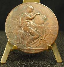 Médaille Allégorie de la géographie décor orientaliste fc Alphée Dubois medal 勋章
