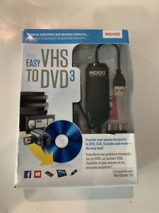 Roxio Easy VHS to DVD 3 Converter New Sealed - For Windows