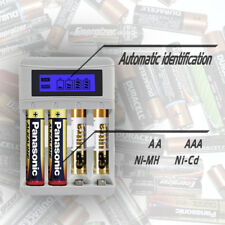 4 Slots LCD Display Smart Battery Charger  for AA/AAA NiCd NiMh Rechargeable