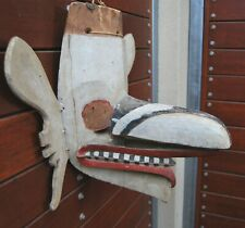 A superb early Dayak Hudoq Mask Kalimantan Borneo with collection note 1947