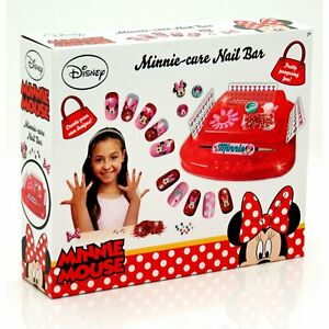 Minnie Cure Nail Bar Manicure Set Disney Game Girls Gift Fun Create Your Own