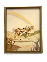 Vtg Elizabeth Maxwell Dewar Signed Numbered Fantasy Horse Rainbow Framed Print