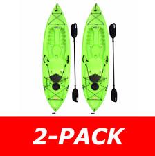 90643 Lifetime Tioga 120 (2-Pack Lime) 10' Sit on Top Fishing Kayaks + 2 Paddles