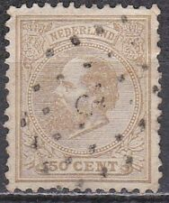 1872-88 Koning Willem III 50 cent lichtbruin NVPH 27