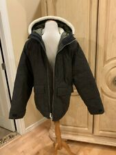 ABERCROMBIE & FITCH DOWN-FILLED HOODED DECK JACKET GREY SIZE MEDIUM~NEW