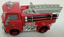 Disney Pixar Cars Red Fire Truck Radiator Springs 1:43 Pre-Owned Ladder Hoses