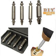 DIY Crafts®4n1 Broken Bolt Damaged Remover Screw Extractor Drill Bits Guide Setd