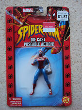 SPIDERMAN Die Cast Poseable Action Marvel Figure Web Glove Version MOC Toy Biz