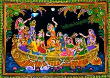 Tapestry Indian Cultural Activity Sequin Poster Wall Hanging Dorm Decor Bedroom