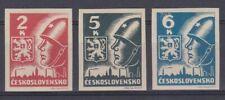 Tchécoslovaquie 1945 360-62 ** non dentelé Armoiries Soldat soviétique Kosice