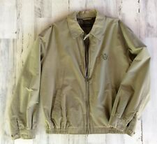 VINTAGE CLUB ROOM BOMBER JACKET MEN'S XL (LIGHT OLIVE GREEN)