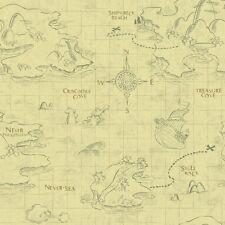 Walt Disney Kids Treasure Pirate Map Wallpaper Boy Child Home Bedroom Wall Decor