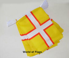 DORSET CROSS BUNTING 9m 30 Fabric Party Flags English County Flag 9 Metres