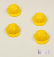 LEGO - 4 x Bauarbeiter - Helm gelb / Yellow Helmet Construction / 3833 NEUWARE