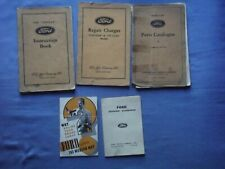 Job Lot Ford Y Popular Instruction Book Parts Catalogue Repair Charges all 1937