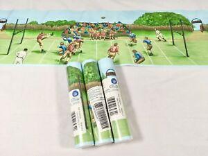 "Village Border Vintage Football NFL Stadium Game Scene 1 Roll 5 yards x 6.85"""