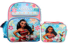 """Moana Small Backpack 12"""" & Lunch bag 2 pc set Insulted Bag Girl School Bag"""