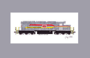 "Family Lines (L&N) SD40-2 #8118 11""x17"" Matted Print Andy Fletcher signed"