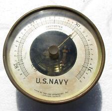 BRONZE BAROMETER  FEE & STEMWEDEL  - U.S NAVY - BU SHIPS - CIRCA 1941 WWII