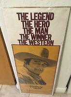CHISUM original 1970 Folded  movie poster JOHN WAYNE 14x36 insert Theatre Used