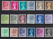 (35973) GB MNH 2.5p - 75p  unmounted mint