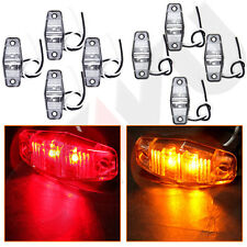 4pair LED Lights Red/Amber Surface Mount Clearance Universal Side Marker Trailer