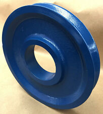 "Wire rope Sheave/Pulley 1/2"" Rope, 9-7/8"" OD, 3-1/2"" Plain  Bore, Cast Steel"