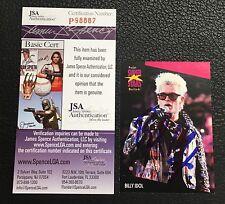 BILLY IDOL 1991 PRO SET SUPER STARS MUSIC SIGNED AUTOGRAPHED CARD JSA CERTIFIED