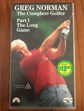 GREG NORMAN THE COMPLETE GAME PART 1 THE LONG GAME GOLF NEW RARE PAL VHS VIDEO
