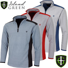 ISLAND GREEN MENS PERFORMANCE MICRO FLEECE 1/4 ZIP GOLF JUMPER @ 60% OFF RRP