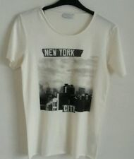 Selected Homme Rock N Roll NEW YORK T Shirt, marshmallow, piccolo, nuova con etichetta