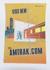 Visit New Amtrak Poster by Paul Rogers Signed and Numbered