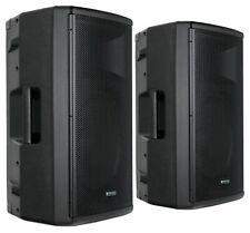"2x DJ PA 15"" Aktiv Lautsprecher Set Box Bluetooth Monitor Bi-Amping Stereo 500W"