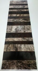 NEW COWHIDE TABLE RUNNER PATCHWORK CARPET AREA RUG LEATHER cow hide AMAZING